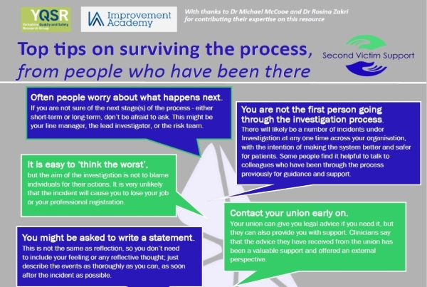 Top tips on surviving the process – a simple guide to help people who have experience of being involved in a patient safety incident